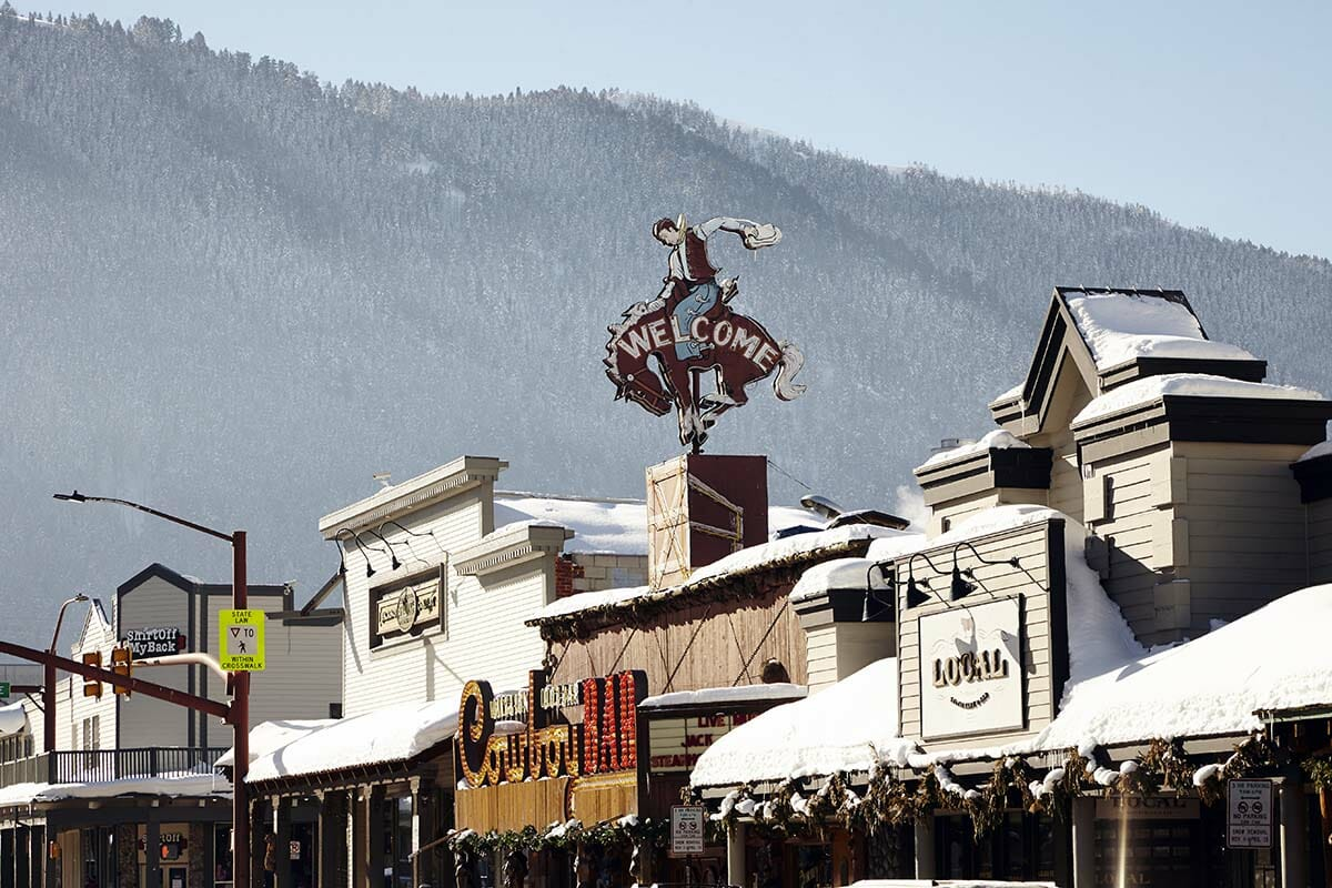 Winter in Downtown Jackson Hole, Wyoming
