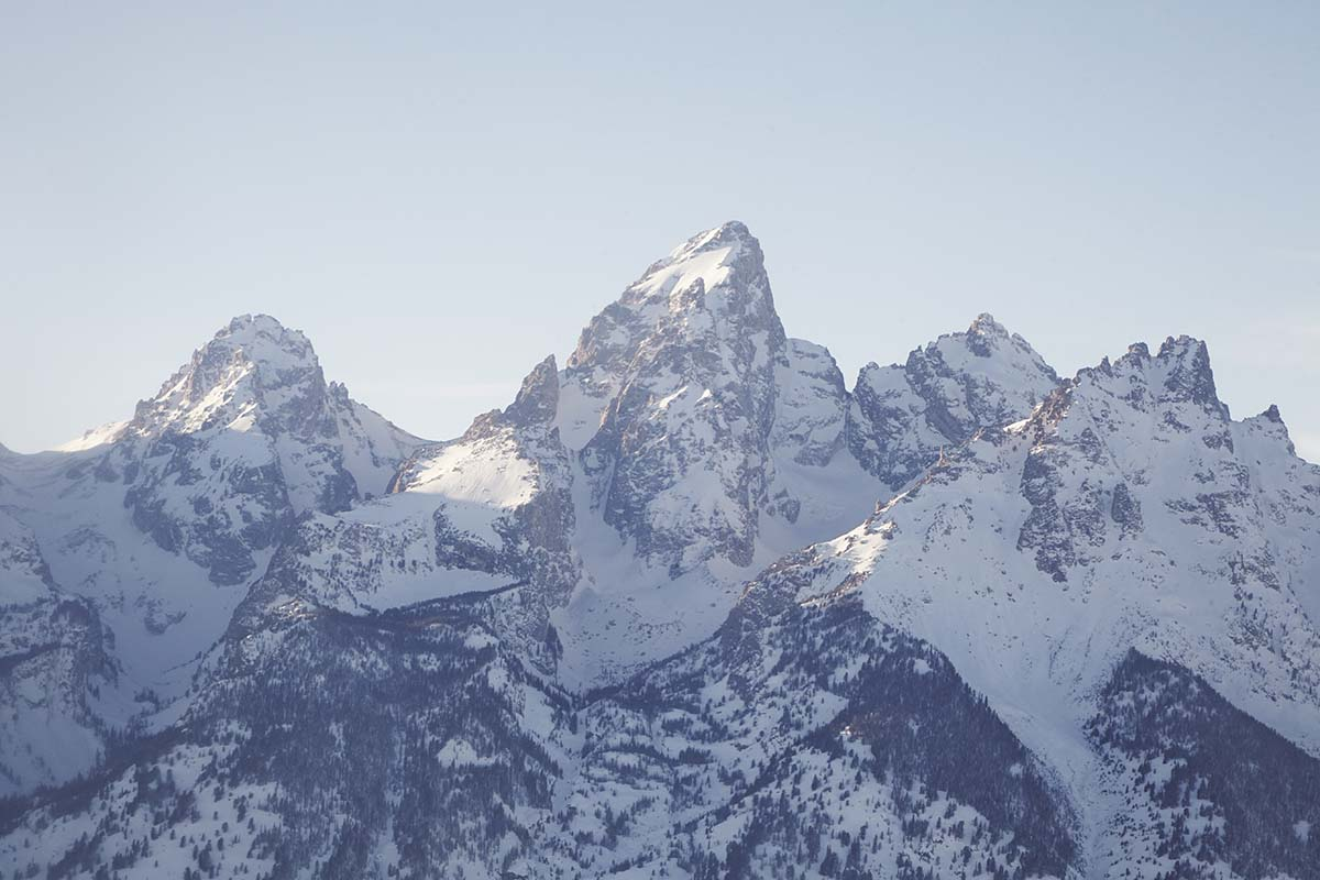 Teton Mountain tops in winter